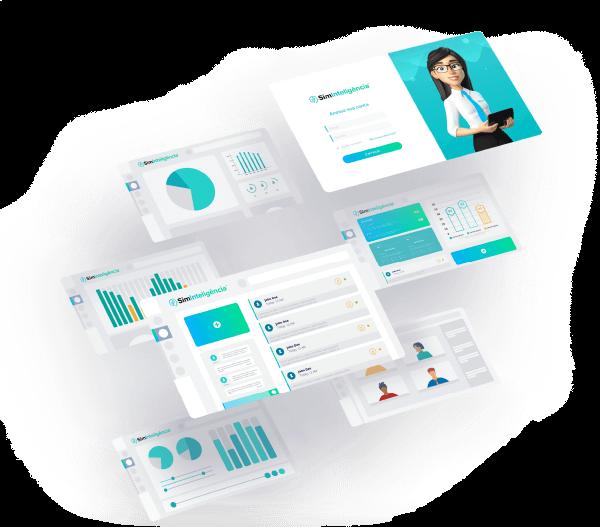 Interface da SimInteligência - Gestão do conhecimento corporativo
